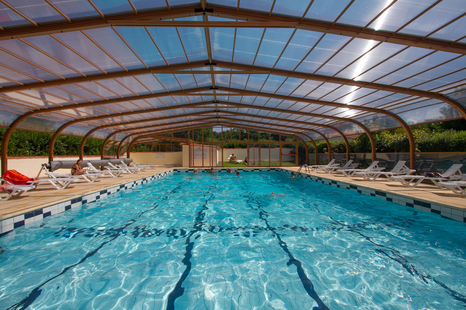 ... The Covered And Heated Swimming Pool At The Abri Côtier Campsite ...